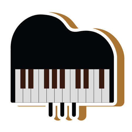 Illustration for piano - Royalty Free Image