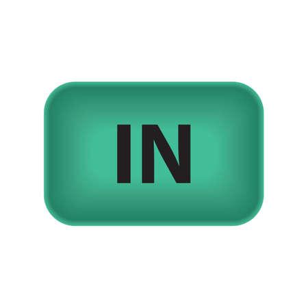 Illustration pour In button - image libre de droit