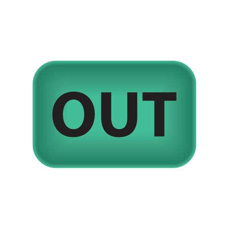 Illustration pour Out button - image libre de droit