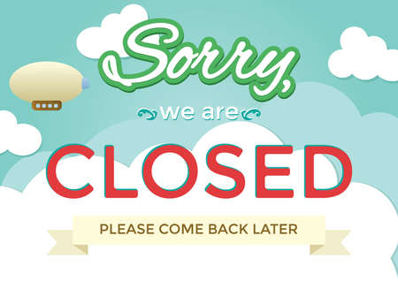 Illustration for sorry we are closed background - Royalty Free Image