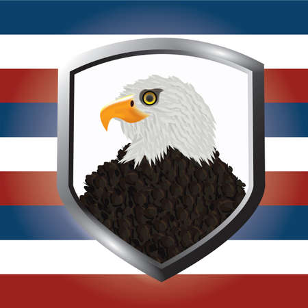 Illustration pour usa eagle badge - image libre de droit