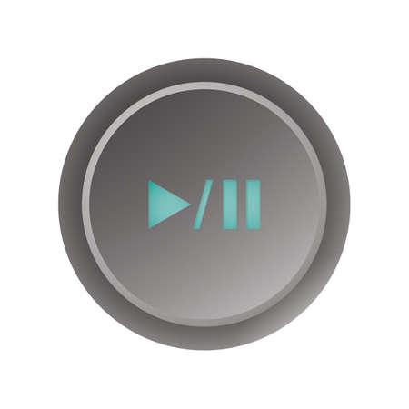 Ilustración de Play/pause button - Imagen libre de derechos