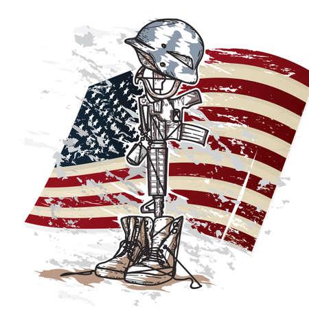 Ilustración de memorial day - Imagen libre de derechos