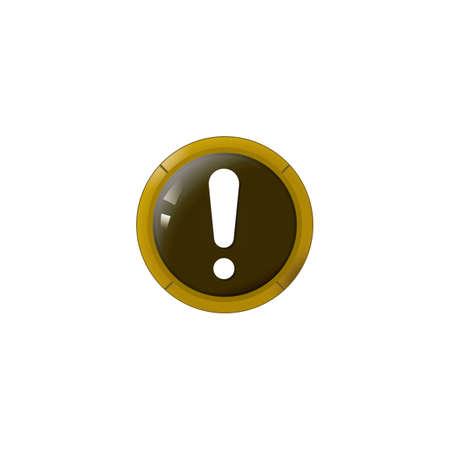 Ilustración de alert button - Imagen libre de derechos