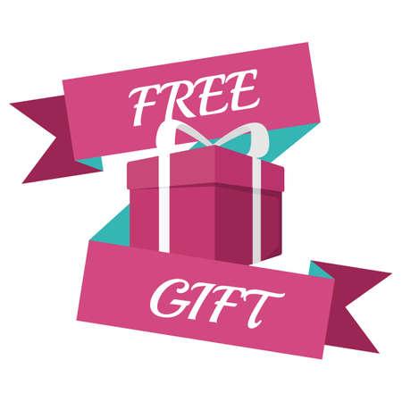 Ilustración de free gift banner - Imagen libre de derechos