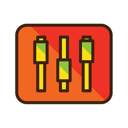 Illustration pour slider button - image libre de droit