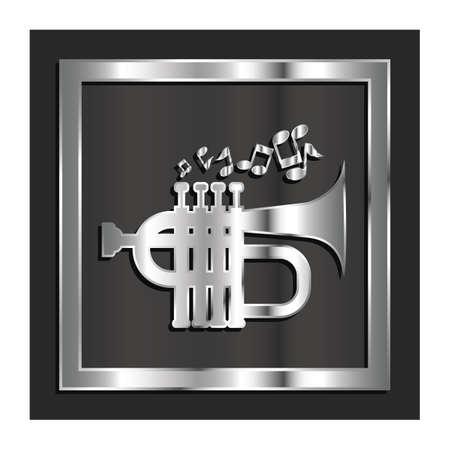 Illustration for trumpet - Royalty Free Image
