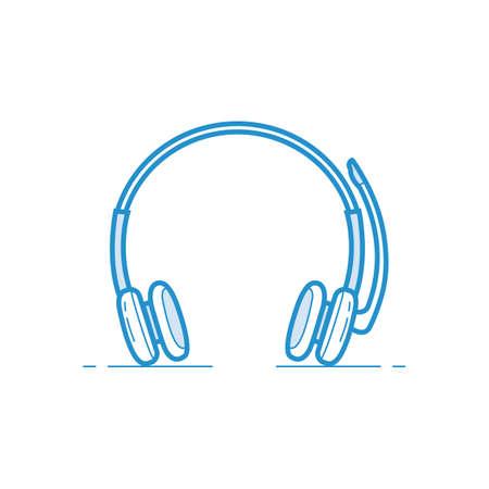 Ilustración de headset with mic - Imagen libre de derechos