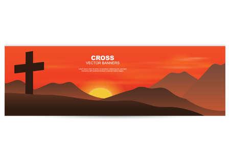 Illustration pour holy cross banner - image libre de droit