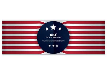 Illustration pour american flag banner - image libre de droit