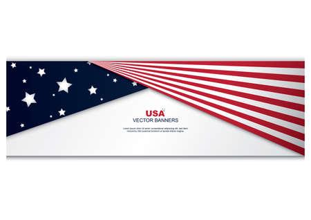 Ilustración de american flag banner - Imagen libre de derechos