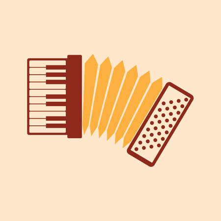 Illustration pour A keyboard accordion illustration. - image libre de droit