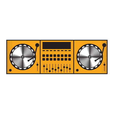 Illustration pour dj mixer - image libre de droit
