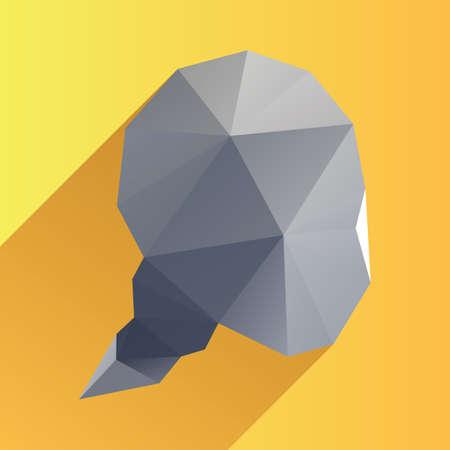 Illustration pour geometric speech bubble - image libre de droit