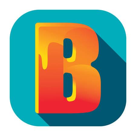 Illustration for alphabet b - Royalty Free Image