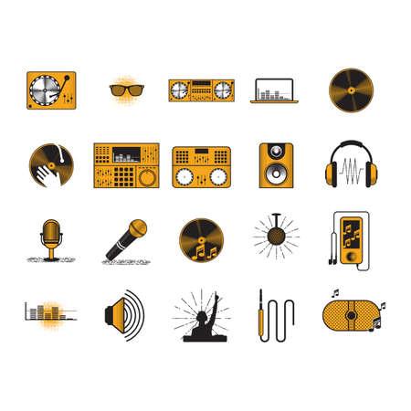 Illustration pour audio equipment collection - image libre de droit