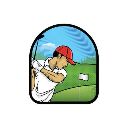 Ilustración de man playing golf - Imagen libre de derechos
