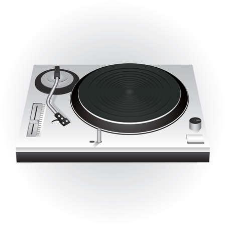 Illustration pour dj mixer turntable - image libre de droit