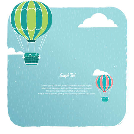 Ilustración de A hot air balloon background illustration. - Imagen libre de derechos