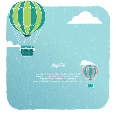 Illustration pour A hot air balloon background illustration. - image libre de droit