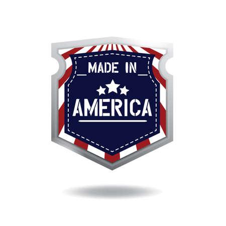Illustration pour made in america label - image libre de droit