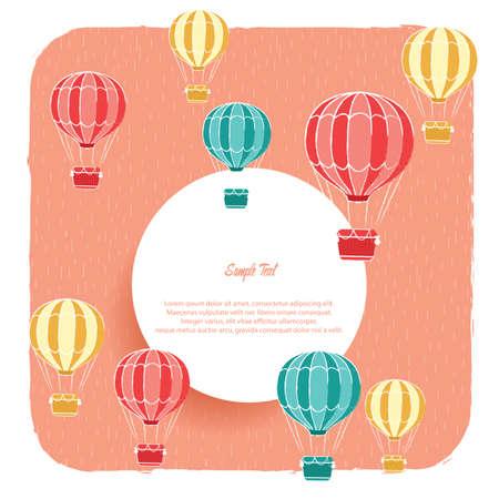 Ilustración de hot air balloon background - Imagen libre de derechos