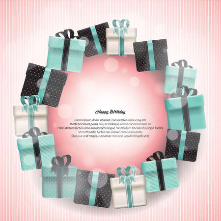 Illustration pour happy birthday card - image libre de droit