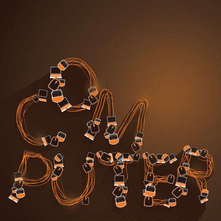 Illustration pour A word computer illustration. - image libre de droit