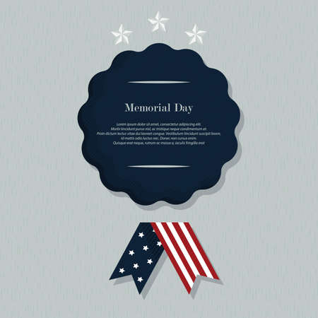 Illustration for memorial day background with text - Royalty Free Image