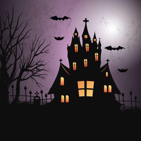 Ilustración de A halloween background illustration. - Imagen libre de derechos