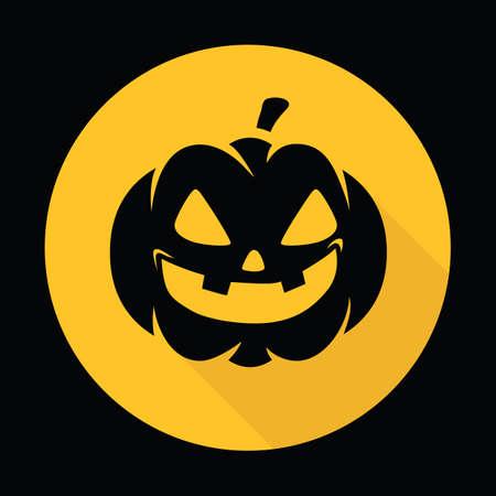 Ilustración de carved pumpkin face - Imagen libre de derechos