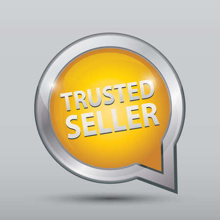 Illustration pour trusted seller sign - image libre de droit