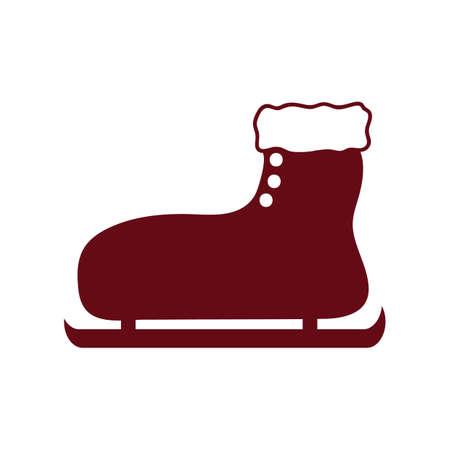 Ilustración de A ice skate illustration. - Imagen libre de derechos