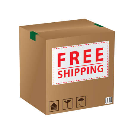 Illustration for cardboard box - Royalty Free Image