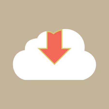 Illustration pour download sign with cloud icon - image libre de droit