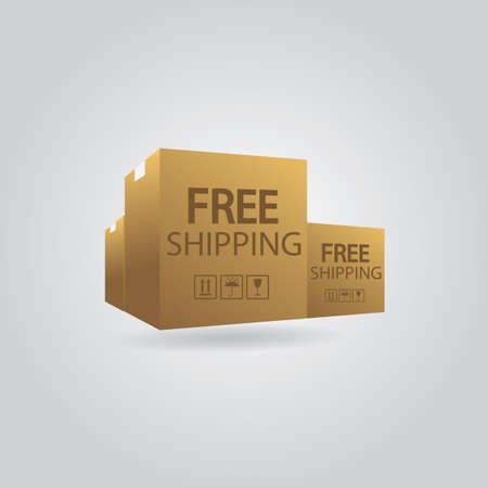 Illustration for A cardboard boxes illustration. - Royalty Free Image