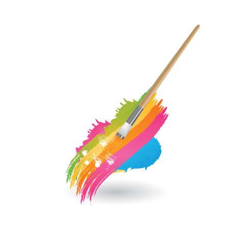 Illustration pour Paint brushstrokes - image libre de droit
