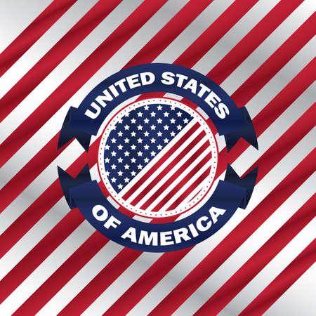 Illustration pour usa flag - image libre de droit