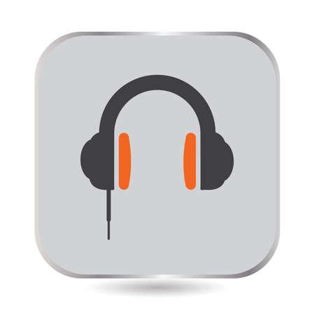 Ilustración de A simple headphones illustration. - Imagen libre de derechos