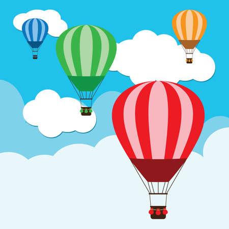 Illustration pour hot air balloons - image libre de droit