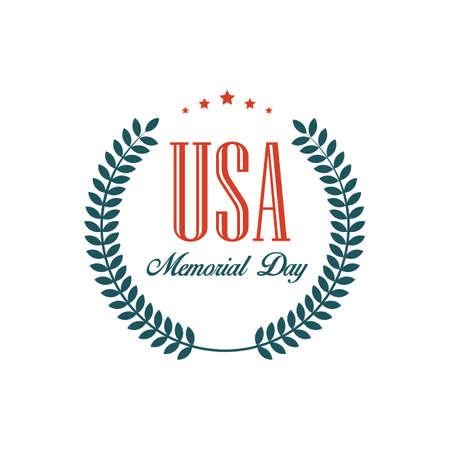 Ilustración de memorial day label - Imagen libre de derechos