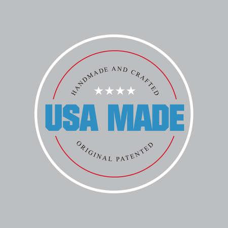 Ilustración de Made in usa label - Imagen libre de derechos