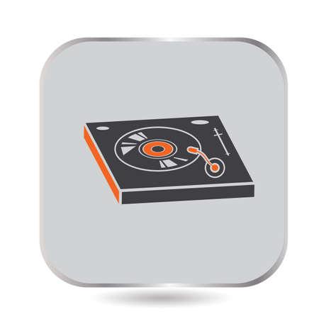 Illustration pour DJ turntable - image libre de droit
