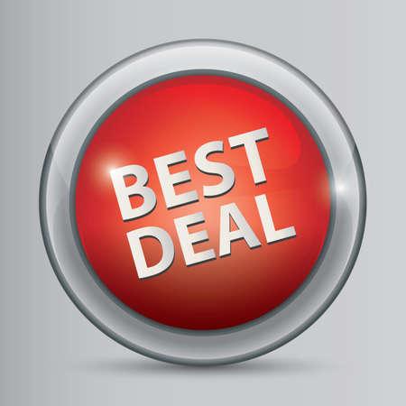 Illustration pour best deal sign - image libre de droit
