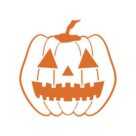 Ilustración de halloween carved pumpkin - Imagen libre de derechos