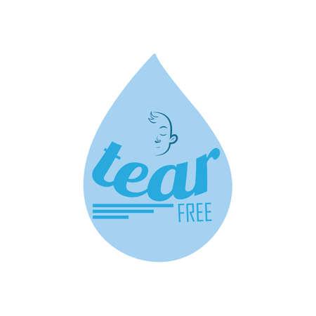 Illustration pour tear free label - image libre de droit
