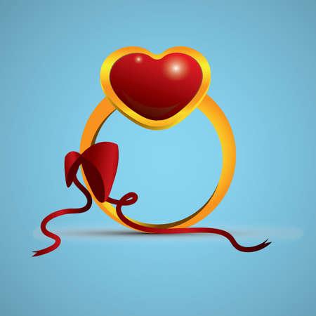 Illustration pour heart ring - image libre de droit