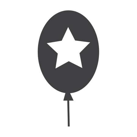 Illustration pour Balloon with star - image libre de droit