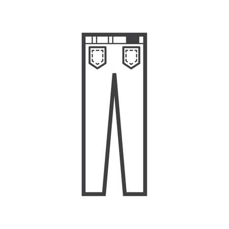Illustration for Trousers icon - Royalty Free Image