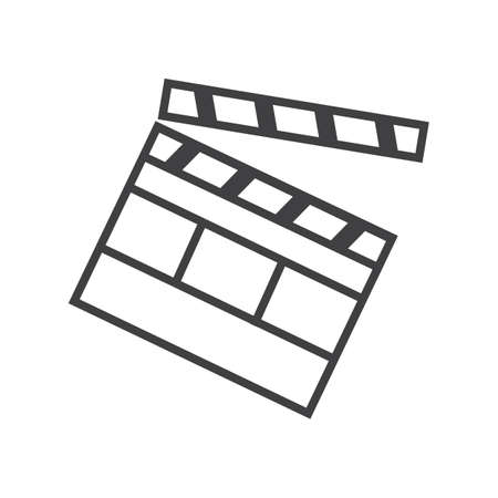 Illustration for Clapper board - Royalty Free Image